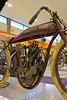 Motorcyclepedia Museum : I spent a couple of hours in the Motorcyclepedia Museum, Newburgh, NY on 19 February 2012.  A great selection of Indians, Harley Davidson, and a variety of other machines.  Some really interesting custom work, as well.  The bike from the movie Tron is here.  That one fascinates me for some reason.
